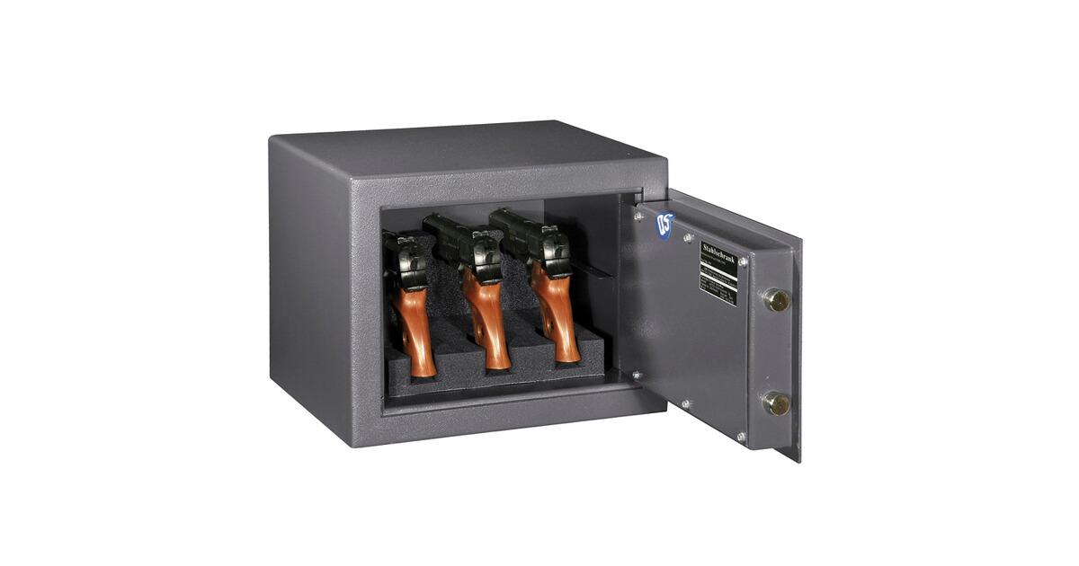 Format coffre fort 310 pour 3 armes de poing version gris graphite charni res droite for Coffre fort pour armes doccasion