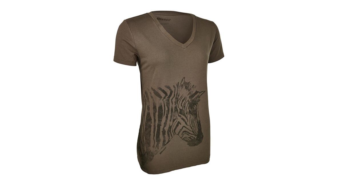 blaser active outfits t shirt zebra vert tshirts v tements de chasse femme textile. Black Bedroom Furniture Sets. Home Design Ideas