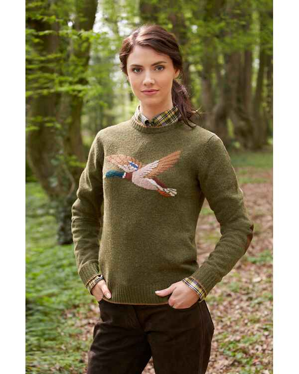 Pull en laine femme motif canard, Parforce Traditional Hunting