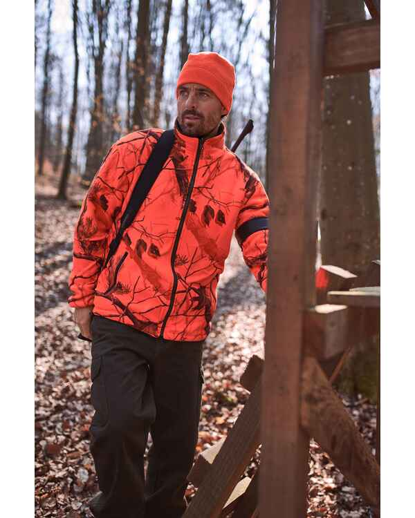 Veste polaire réversible camo orange, Wald & Forst