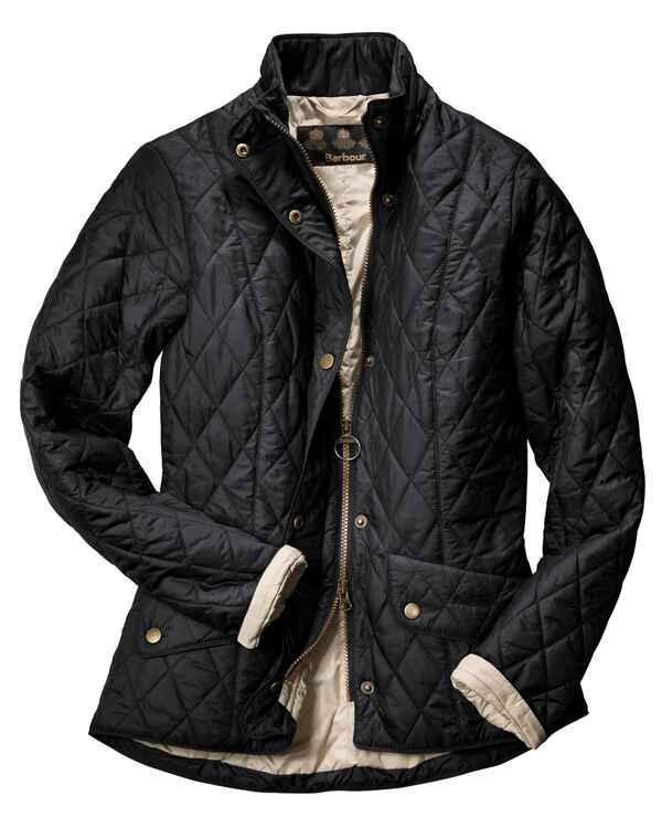 barbour veste matelass e pour femme flyweight cavalry noir barbour textile boutique en. Black Bedroom Furniture Sets. Home Design Ideas