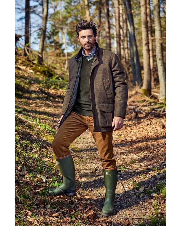Pantalon en velour cottelé Neuston, Barbour