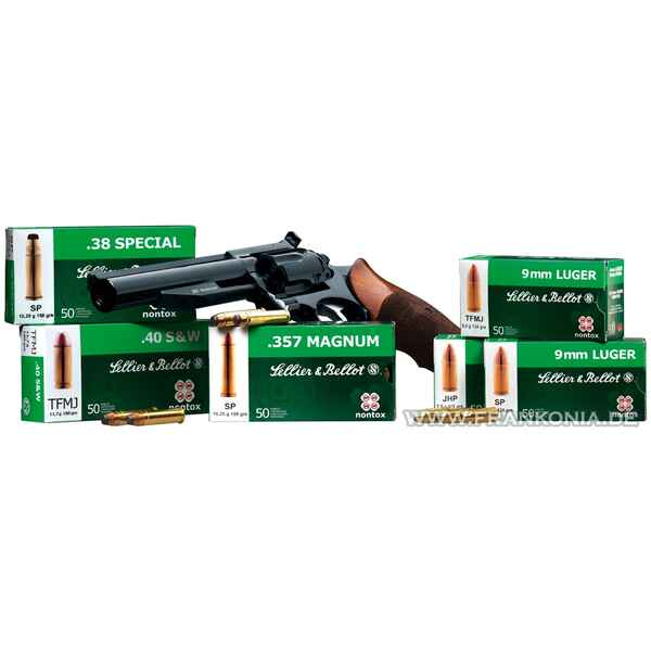 .38 Spec., Demi-blindée NT (10,2gr), Sellier & Bellot