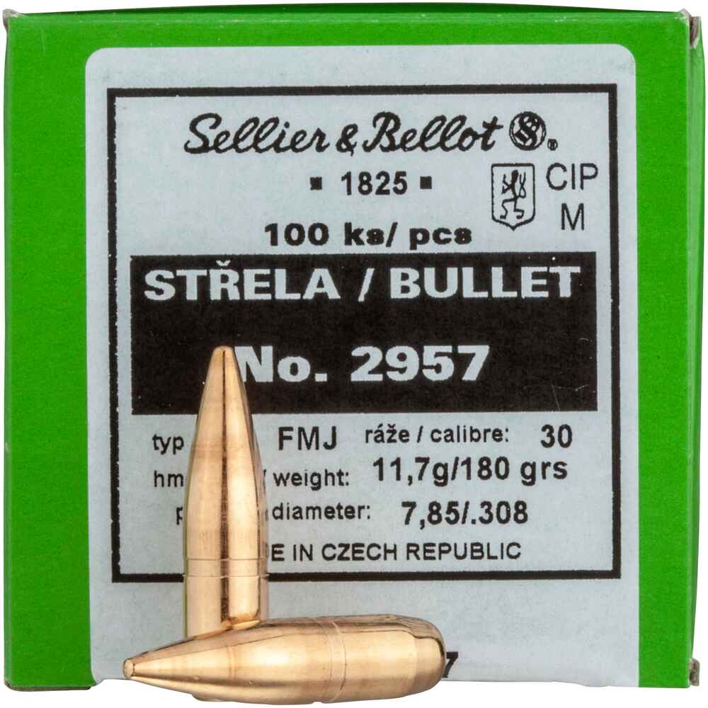 .308 (7,62mm), 180grs. FMJ BT, Sellier & Bellot