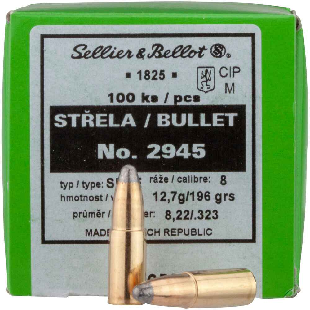 .323 (8mm S), 196grs.Tlm CE, Sellier & Bellot