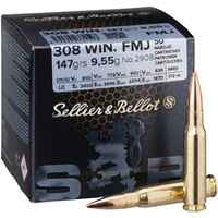 .308 Win., Blindée (9,5gr), Sellier & Bellot