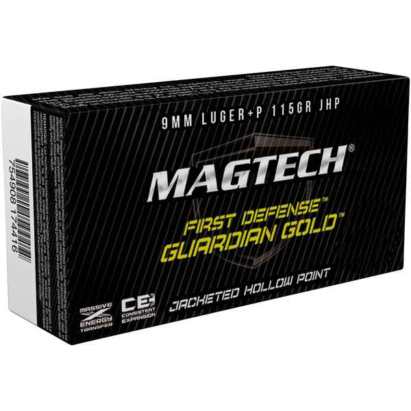 .9mm Luger+P Guardian Gold JHP, Magtech