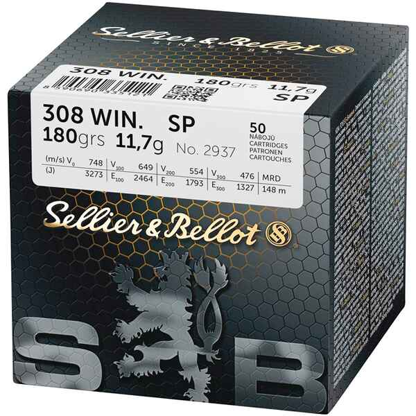 .308 Win., Demi-blindée (11,7gr), Sellier & Bellot