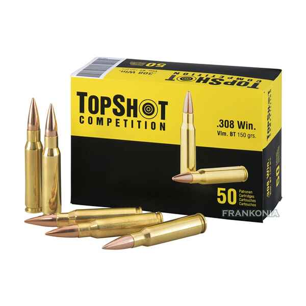 .308 Win., Blindée Boat Tail (9,7gr), TOPSHOT Competition