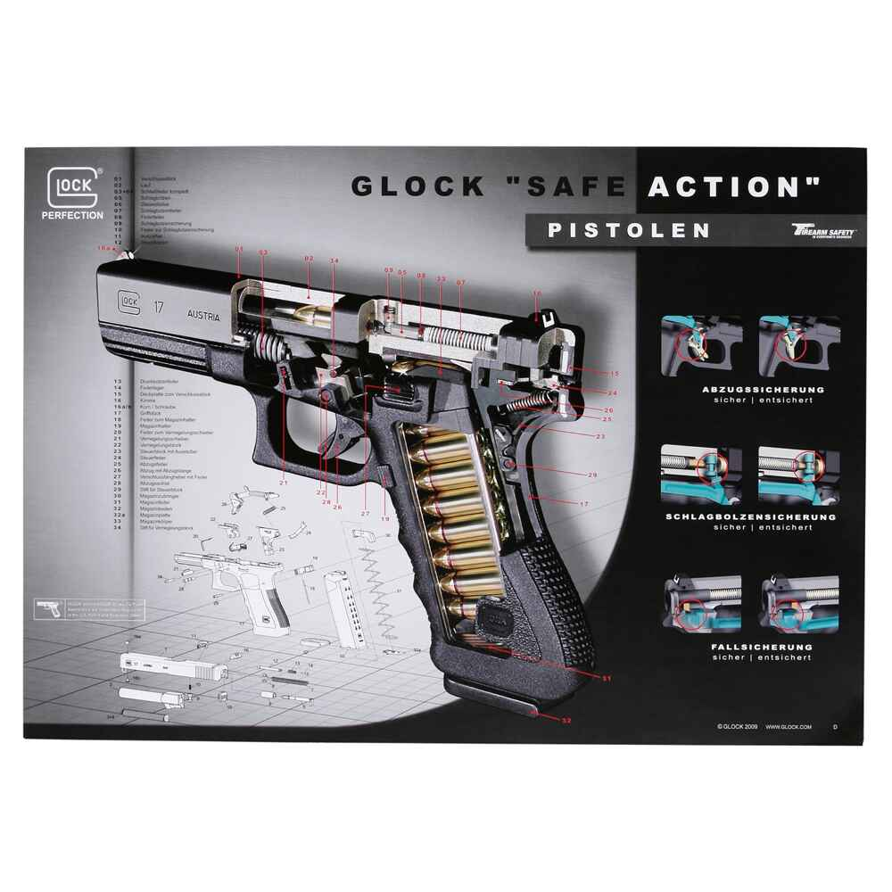 Poster Glock Safe Action, Glock