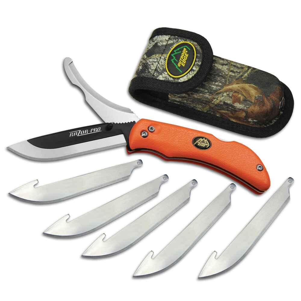 outdoor edge couteau razor pro orange couteaux coutellerie equipements boutique en. Black Bedroom Furniture Sets. Home Design Ideas