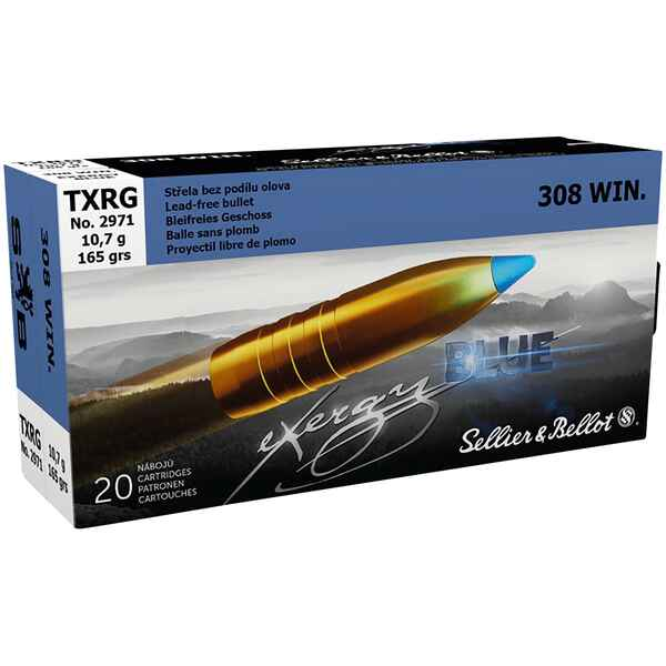 S+B .308 Win TXRG blue 110grs. 20pces., Sellier & Bellot