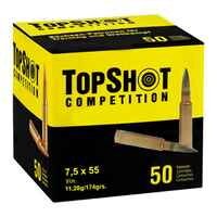 7,5x55 FMJ BT 11,3g, TOPSHOT Competition