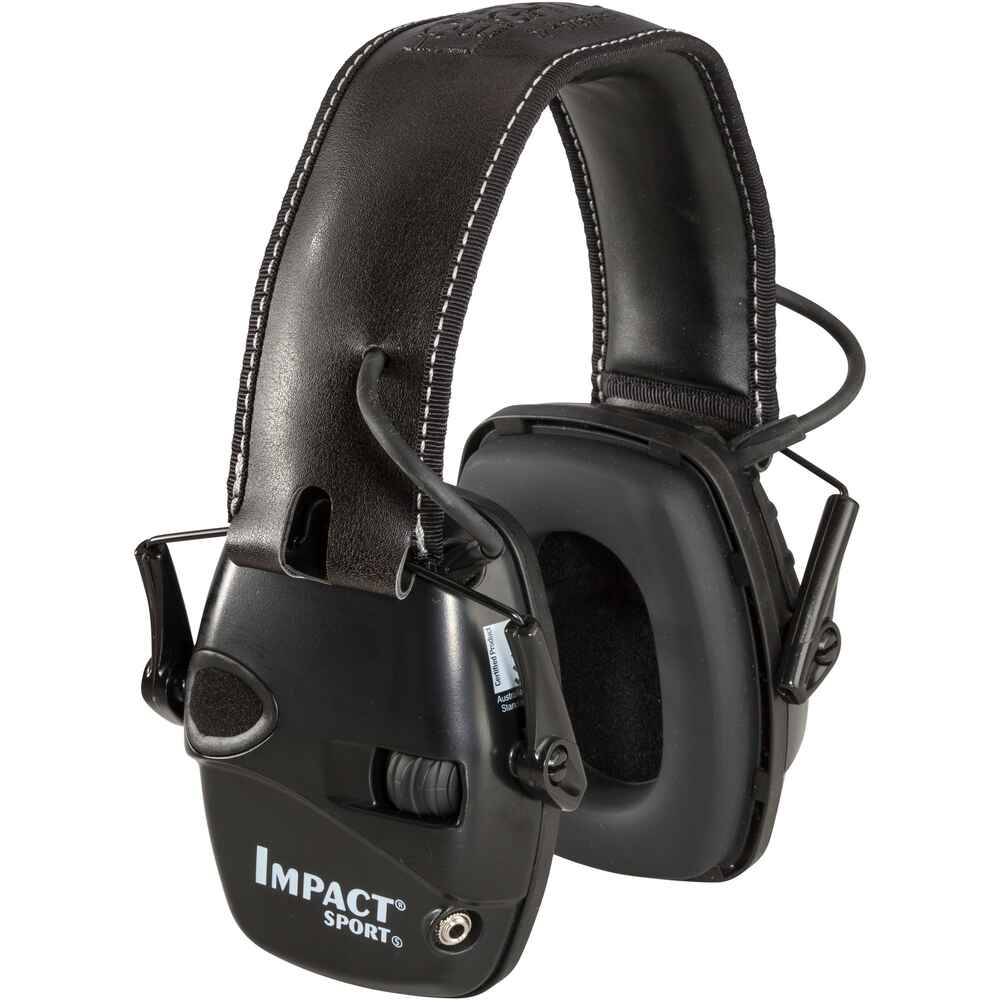 Un casque anti-bruit électronique Impact Sport, Howard Leight