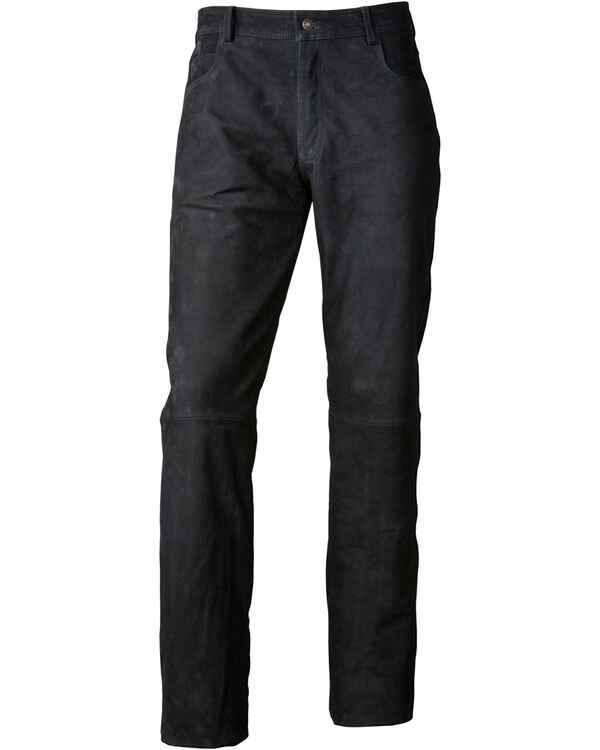 luis steindl pantalon en cuir noir noir pantalons. Black Bedroom Furniture Sets. Home Design Ideas