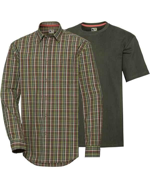 acheter populaire 08ca5 0b8a3 Wald & Forst Set Chemise de chasse av. T-Shirt olive
