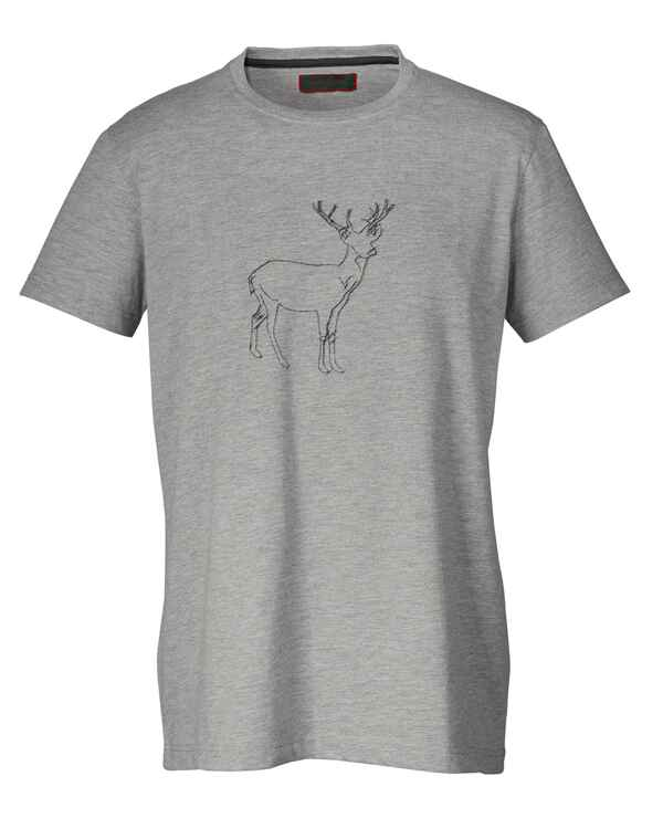 Set de 2 T-Shirt blanc/gris av. impression, REITMAYER