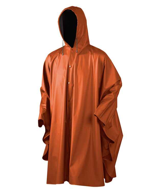 seeland poncho de pluie orange fluo protection contre la pluie v tements de chasse homme. Black Bedroom Furniture Sets. Home Design Ideas