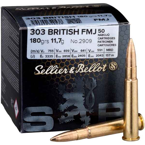 .303 British, Blindée (11,6gr), Sellier & Bellot