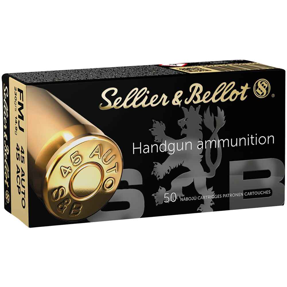 .45 ACP, Blindée (14,9gr), Sellier & Bellot
