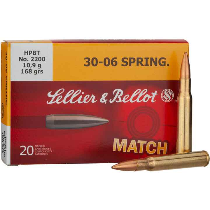 .30-06 Spr., Sierra Match King (10,9gr), Sellier & Bellot
