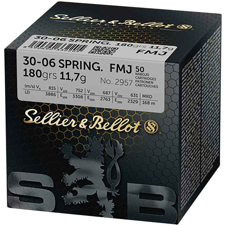 .30-06 Spr., Blindée (11,6gr), Sellier & Bellot