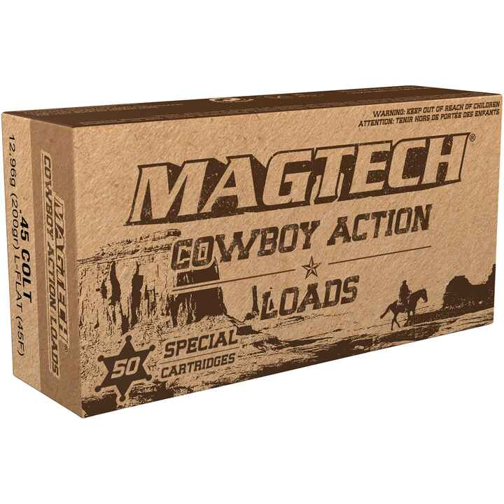 Cowboy-Action-Shooting, .45 Long Colt, plomb tête plate, Magtech