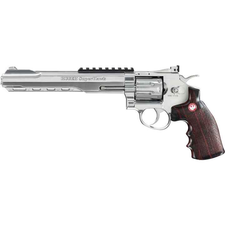 Pistolet Airsoft Super Hawk Chrome AIPSC, Ruger