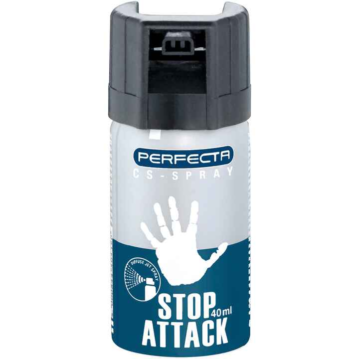 Bombe lacrymogène anti agression en spray CS, Perfecta