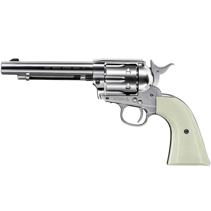 Revolver CO2 SAA 45 nickelé, Colt