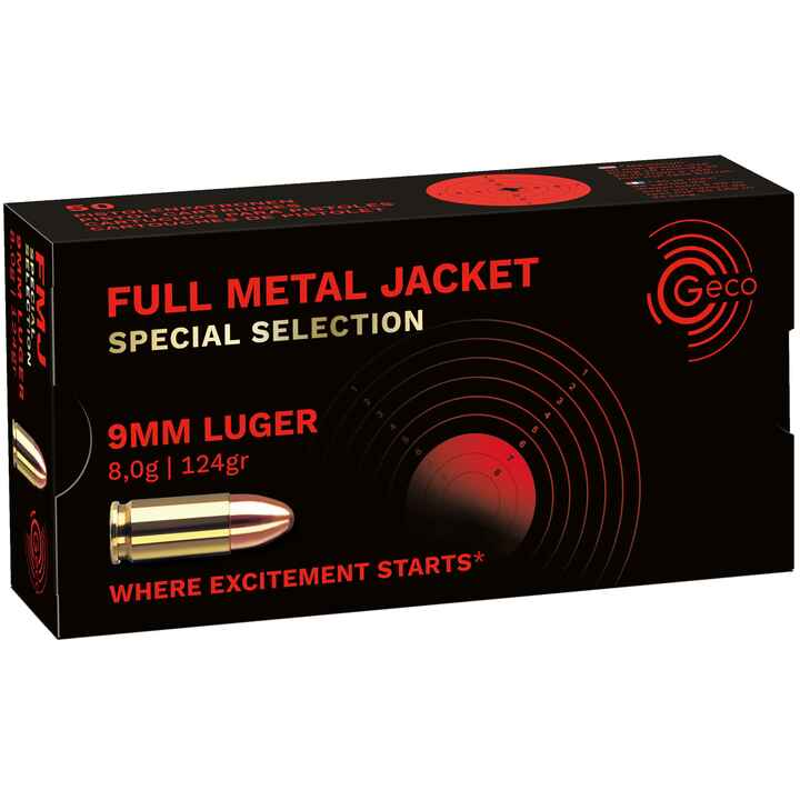 .9mm Luger VLM Special 8,0g/124grs, Geco