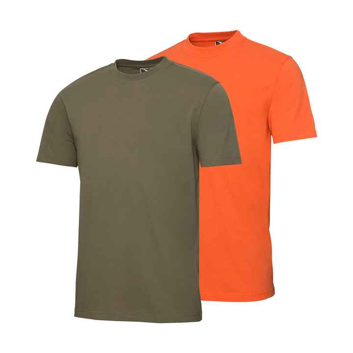 Pack de 2 t-Shirt orange/olive, Wald & Forst
