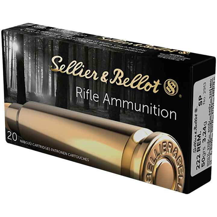 .222 Rem., Demi-blindée (3,2gr), Sellier & Bellot