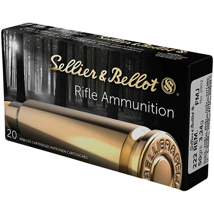 .222 Rem., Blindée (3,2gr), Sellier & Bellot