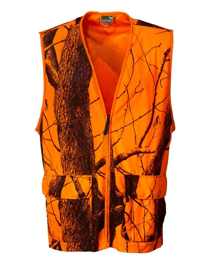 Gilet fluo orange camo, Parforce