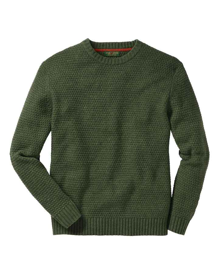 Pullover laine vierge olive, Parforce