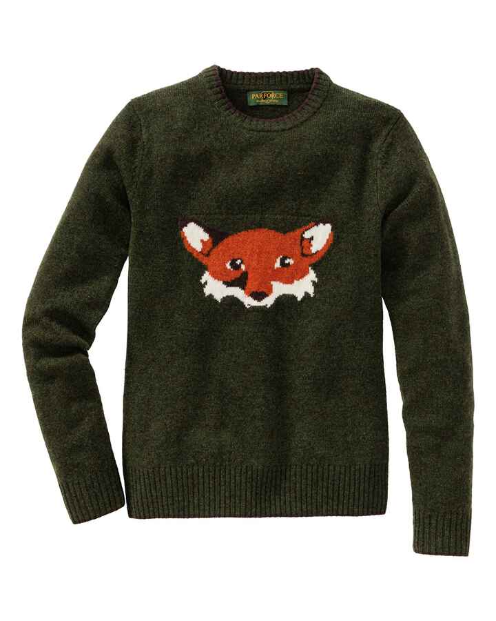 Pullover dame avec motif renard, olive, Parforce Traditional Hunting